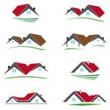 Åtta färgade hussymboler Royaltyfri Foto