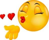 %C3%A9motic-ne-de-baiser-ronde-de-visage-de-bande-dessin%C3%A9e-faisant-le-baiser-d-air-46947628