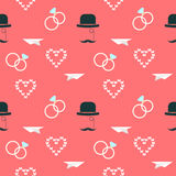 Épouser le fond décoratif romantique sans couture de modèle Image libre de droits