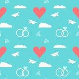 Épouser le fond romantique sans couture Photos stock
