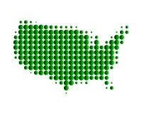 états de carte de l'Amérique unis Image libre de droits