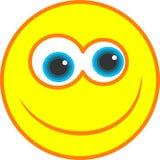 Ícone feliz do smiley Foto de Stock Royalty Free