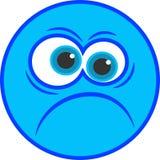 Ícone irritado do smiley Fotografia de Stock Royalty Free
