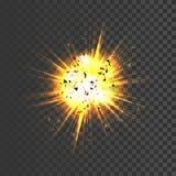 Ícone realístico da explosão Imagens de Stock Royalty Free