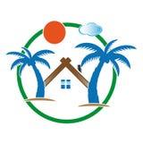 Ícones coloridos bungalow da casa Imagens de Stock Royalty Free
