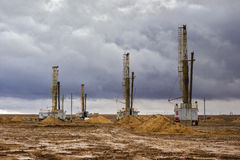 Ölplattformen Stockbilder