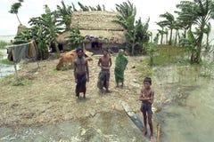 Überschwemmung im Delta Bangladesch, Klimawandel Stockfotos