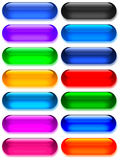 γυαλί πηκτωμάτων κουμπιών μεγάλο Στοκ εικόνα με δικαίωμα ελεύθερης χρήσης
