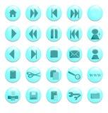 ιστοχώρος κουμπιών aqua Στοκ εικόνες με δικαίωμα ελεύθερης χρήσης