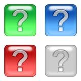 Ιστός ερώτησης κουμπιών Στοκ φωτογραφία με δικαίωμα ελεύθερης χρήσης