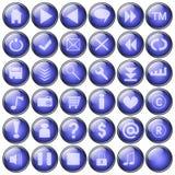 Ιστός κουμπιών Στοκ Φωτογραφία