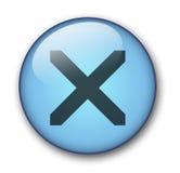 Ιστός κουμπιών aqua Στοκ φωτογραφία με δικαίωμα ελεύθερης χρήσης