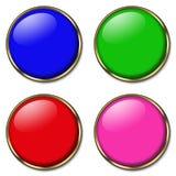 Ιστός 4 κουμπιών Στοκ φωτογραφίες με δικαίωμα ελεύθερης χρήσης