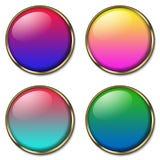 Ιστός 4 κουμπιών Στοκ Εικόνες