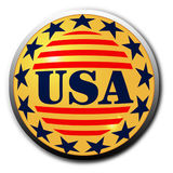 κουμπί ΗΠΑ Στοκ Εικόνα