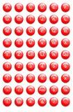 κόκκινος ιστοχώρος κουμπιών Στοκ Εικόνες
