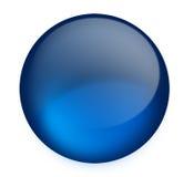 μπλε κουμπί Στοκ Εικόνα
