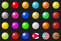 τρισδιάστατα κουμπιά μεγάλα Στοκ φωτογραφία με δικαίωμα ελεύθερης χρήσης