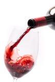 Χύνοντας κρασί σε ένα γυαλί Στοκ Εικόνες