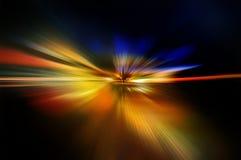Абстрактная предпосылка в красной, оранжевом, желтой и голубом Стоковая Фотография