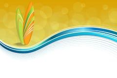 Абстрактные праздники морского побережья предпосылки конструируют желтый цвет оранжевого зеленого пляжа surfboards голубой Стоковые Изображения