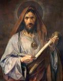 Вена - краска Святого Jude Thaddeus апостола от бортовой молельни церков Schottenkirche Стоковое Изображение RF