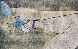 женщина ног s чертежа Стоковое Фото