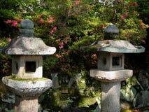 камень японских фонариков Стоковое Изображение RF
