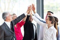 Предприниматели группы teambuilding Стоковое Фото