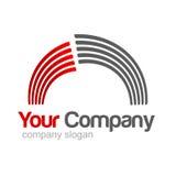 серый красный цвет логоса Стоковое фото RF