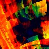 Художническое красочное искусство Творческая текстура Brushstrokes абстрактная предпосылка самомоднейшая Красный зеленый желтый о Стоковые Фото