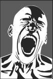 Человек screaming Стоковая Фотография
