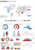 элементы собрания infographic Стоковое Фото