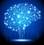 人工智能脑子 免版税库存图片