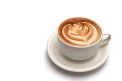 咖啡拿铁艺术 免版税库存照片