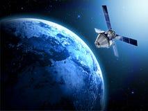 在空间的卫星 图库摄影