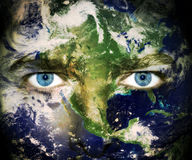 地球注视行星除之外 库存照片