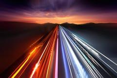 快速的红绿灯足迹 库存图片