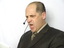 恼怒电话联系 免版税库存照片