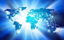 概念连接数全球网络 库存图片