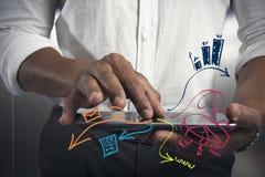 片剂和企业任务 库存图片