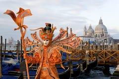 狂欢节男性屏蔽威尼斯 库存照片