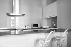 现代厨房 库存图片