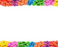 糖果五颜六色的框架 库存照片