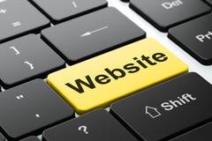 网络设计概念:键盘背景的网站 免版税库存照片