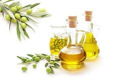 美丽的瓶穿戴的油橄榄香料 库存照片