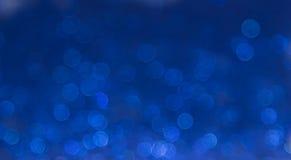 蓝色典雅的抽象bokeh背景 免版税库存照片