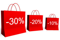 10, 20, and 30 Percent Off Sales Royalty Free Stock Photo