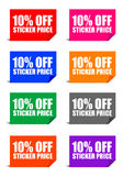 10% off sticker price Royalty Free Stock Image