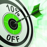 10 Percent Off Shows Discount Promotion Advertisement Royalty Free Stock Photography